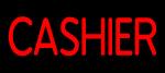 Custom Red Cashier Neon Sign 2