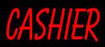 Custom Red Cashier Neon Sign 3