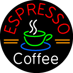 Custom Round Espresso Coffee Neon Sign 1