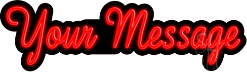 Custom Cursive Neon Sign