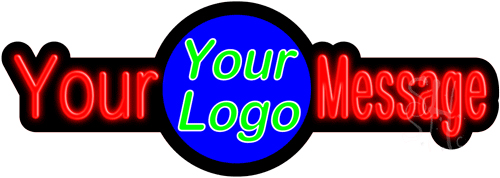 Custom Center Logo Neon Sign