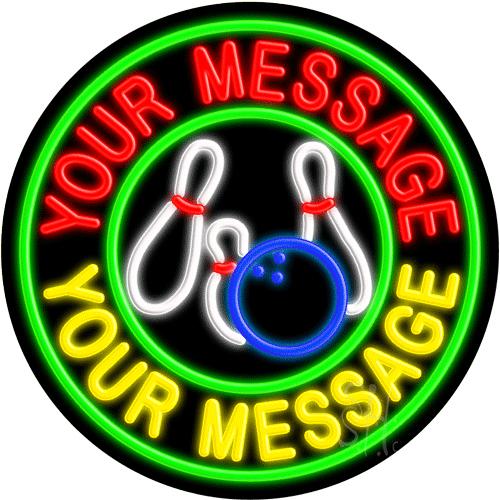 Custom Bowling Green Circle Neon Sign