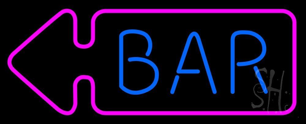 Bar With Arrow Neon Sign | Bar Neon Signs