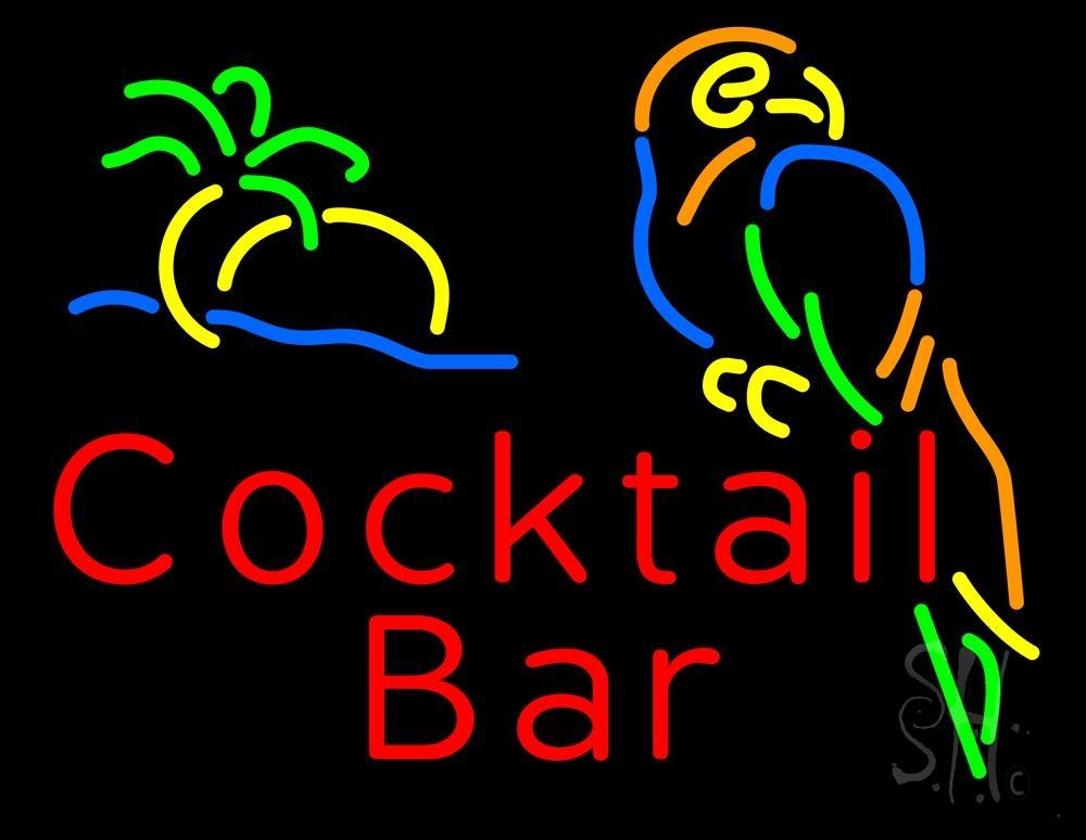 cocktail bar neon sign
