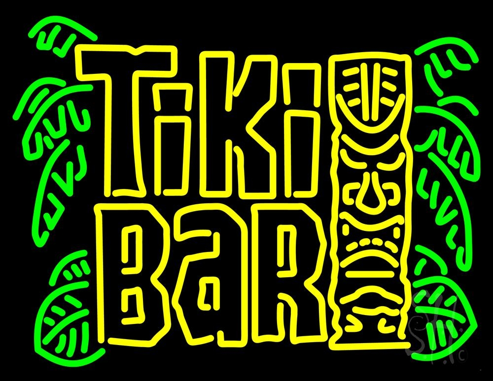 retro tiki bar neon sign