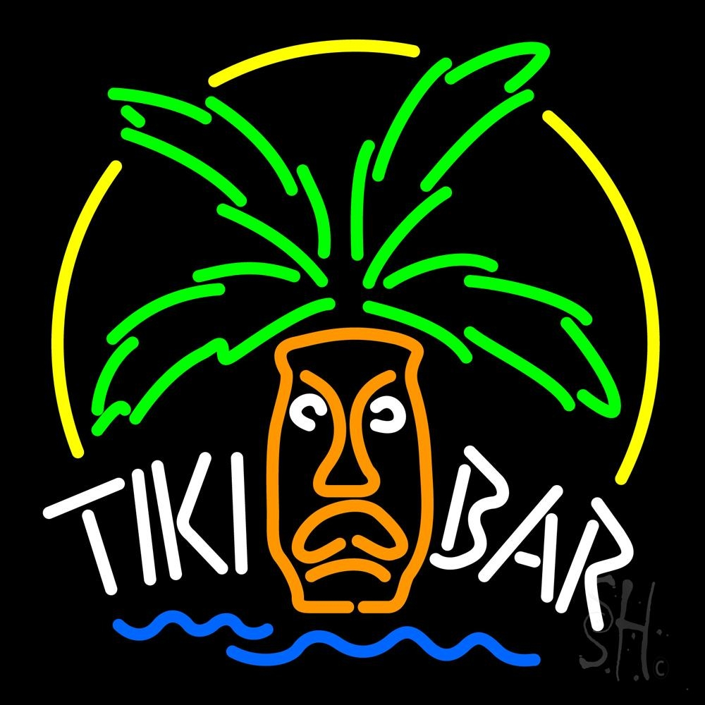 tiki bar logo neon sign tiki bar neon signs every