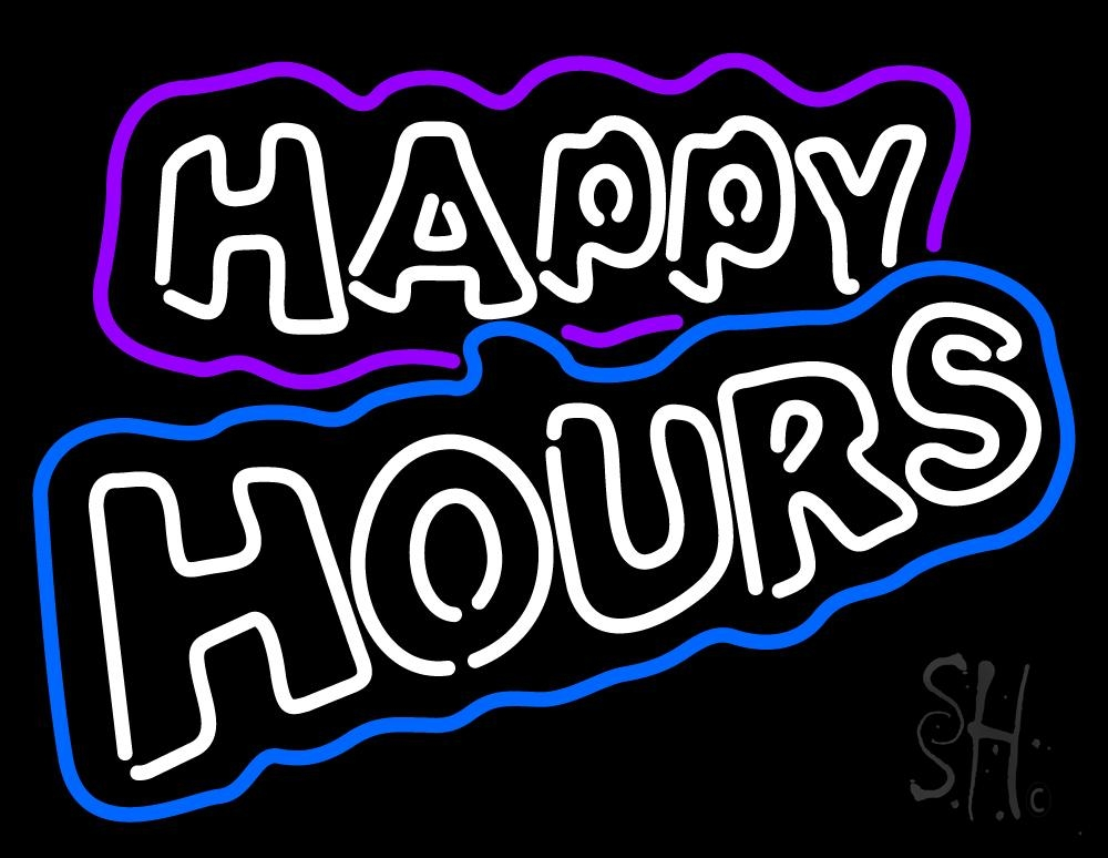 Happy Hours Neon Sign | Happy Hour Neon Signs - Every
