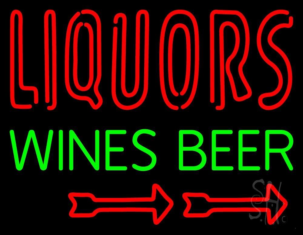 Liquors Wines Beer Neon Sign | Liquor Neon Signs - Every
