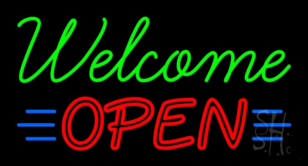 Welcome Open Neon Sign | Welcome Bar Neon Signs - Every