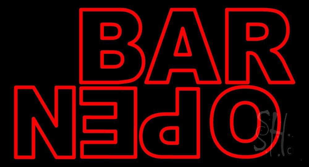 Bar Reverse Open Neon Sign | Bar Open Neon Signs - Every