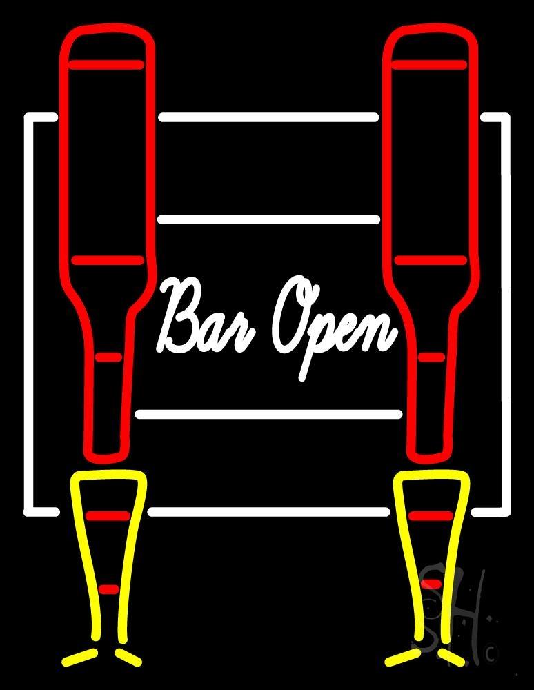 Cursive Bar Open Neon Sign | Bar Open Neon Signs - Every