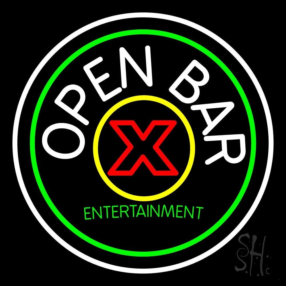 Round Bar Open Neon Sign | Bar Open Neon Signs - Every