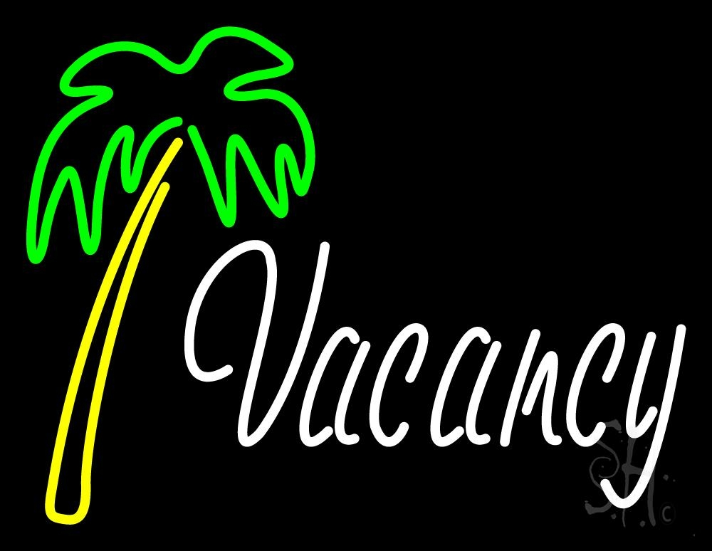 Vacancy With Tree Neon Sign Vacancy Neon Signs Every