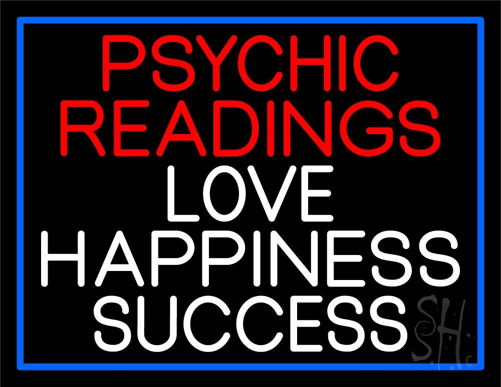 Red Psychic Readings And Love Happiness With Border ...