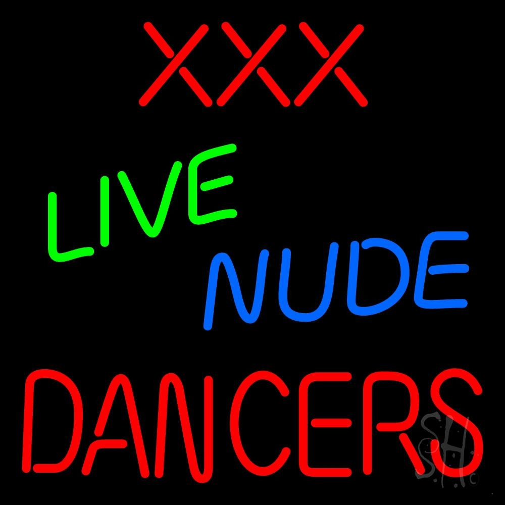 Sexy facail live nude neon sign
