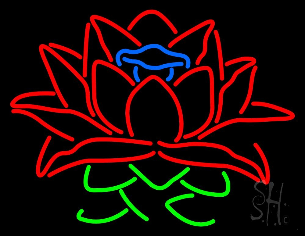 lotus flower logo neon sign flower neon signs every