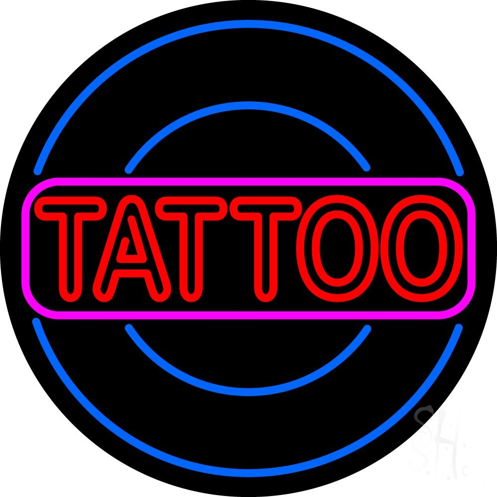 Round tattoo neon sign tattoo neon signs every thing neon for Neon tattoo signs