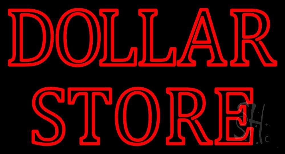 Double Stroke Dollar Store Neon Sign