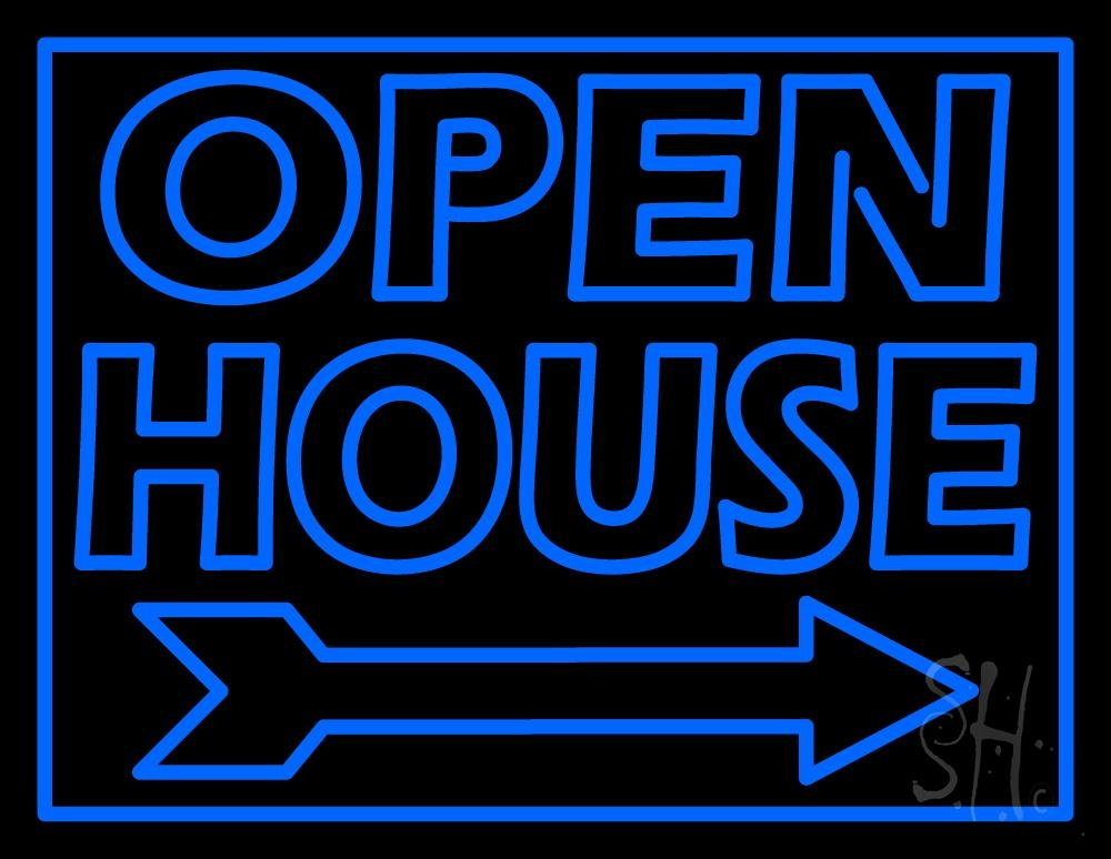 open house real estate decor neon sign real estate open neon signs every thing neon. Black Bedroom Furniture Sets. Home Design Ideas