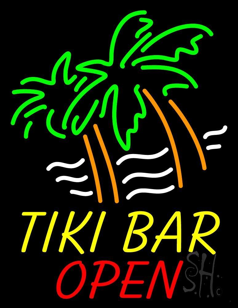 Tiki Bar Open Neon Sign | Tiki Bar Open Neon Signs - Every