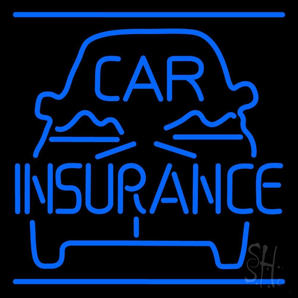 Blue Car Insurance Logo LED Neon Sign - Insurance Neon ...
