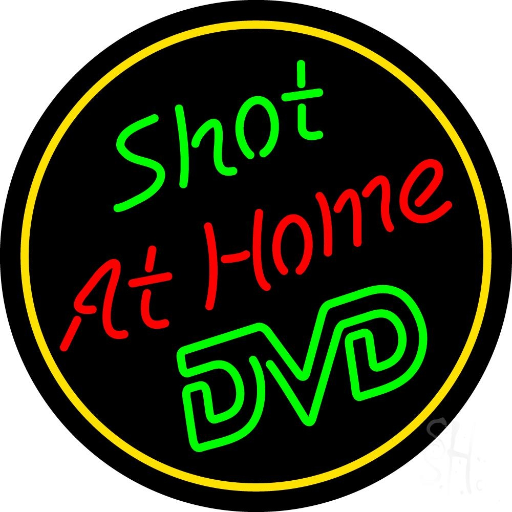 shot at home dvd neon sign dvd video neon signs every thing neon. Black Bedroom Furniture Sets. Home Design Ideas