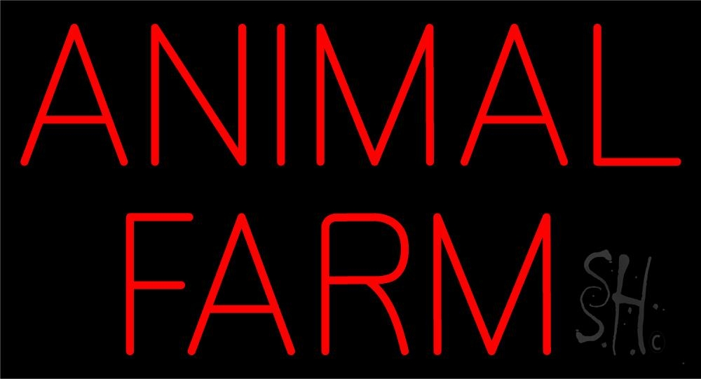 animal farm block neon sign animals neon signs every thing neon