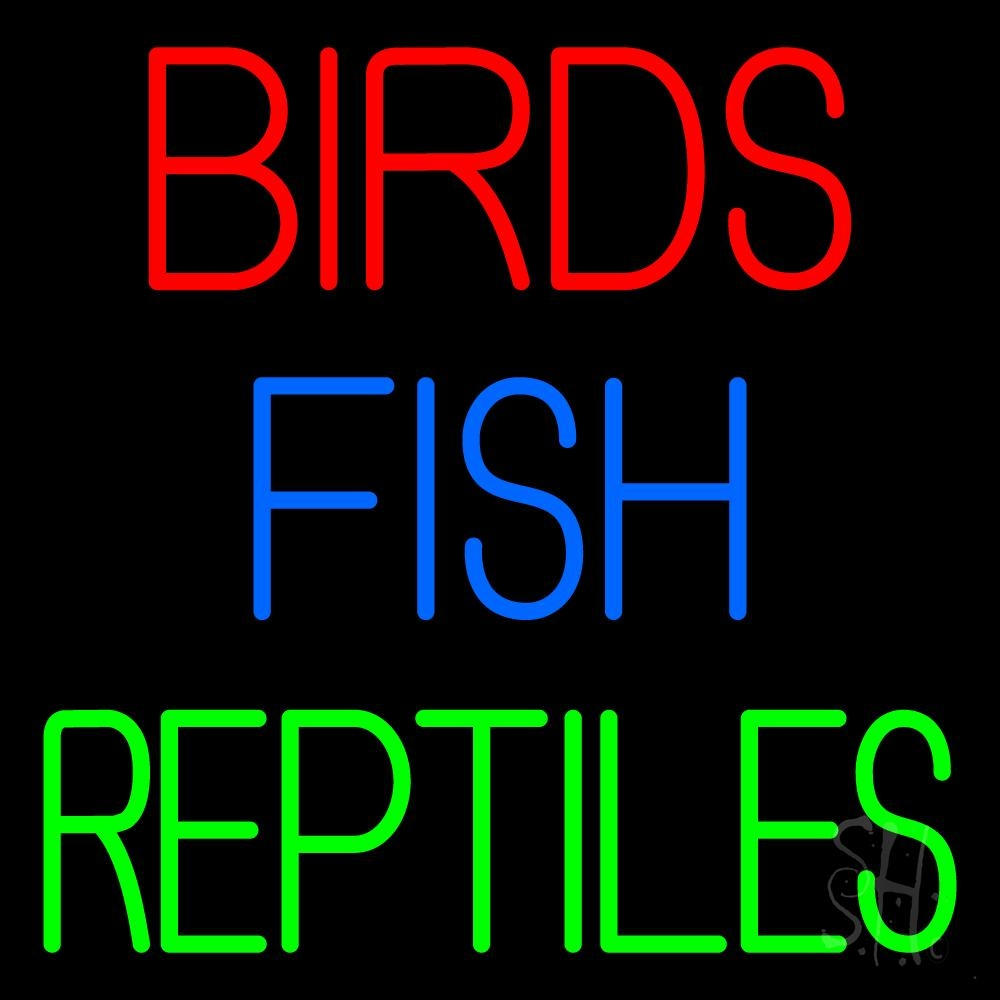 Birds Fish Reptiles 1 LED Neon Sign - Fish Neon Signs ... - photo#50