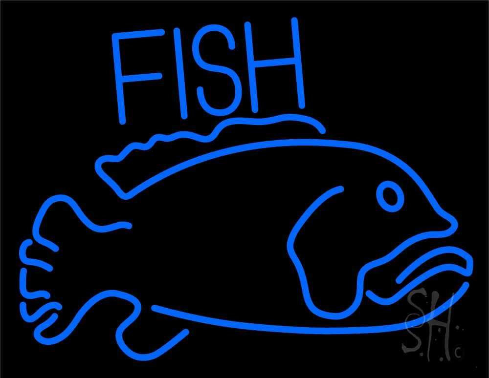 Blue Fish 2 LED Neon Sign - Fish Neon Signs - Everything Neon - photo#17