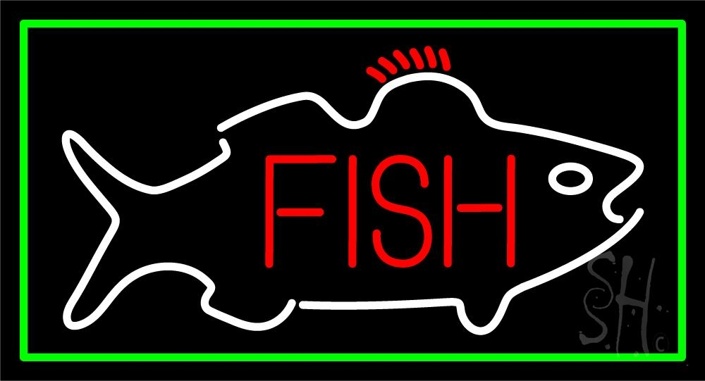 Fish center logo neon sign fish neon signs every thing for Fish neon sign