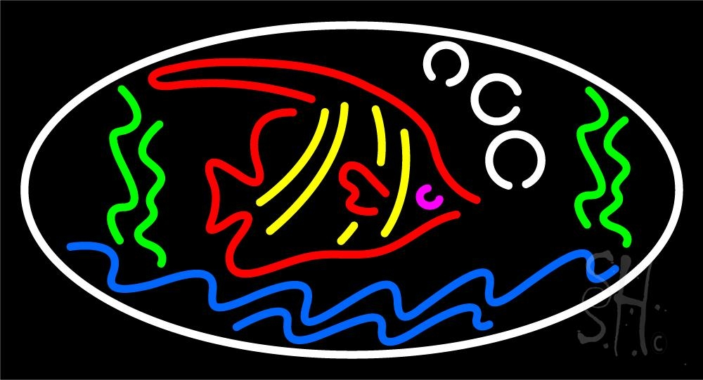 Fish water neon sign fish neon signs every thing neon for Fish neon sign