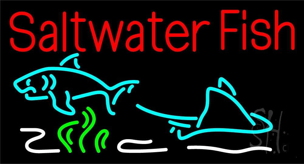 Saltwater Fish LED Neon Sign - Fish Neon Signs ... - photo#10