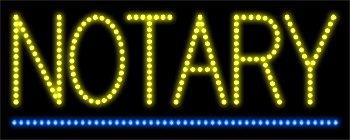 Notary LED Sign