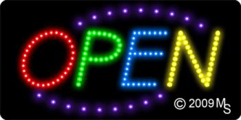 Open Deco Multi Color LED Sign