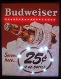Budweiser 25 Cent LED Poster