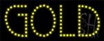 Gold LED Sign