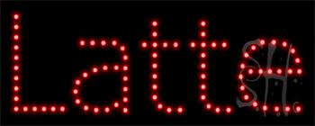 Latte LED Sign