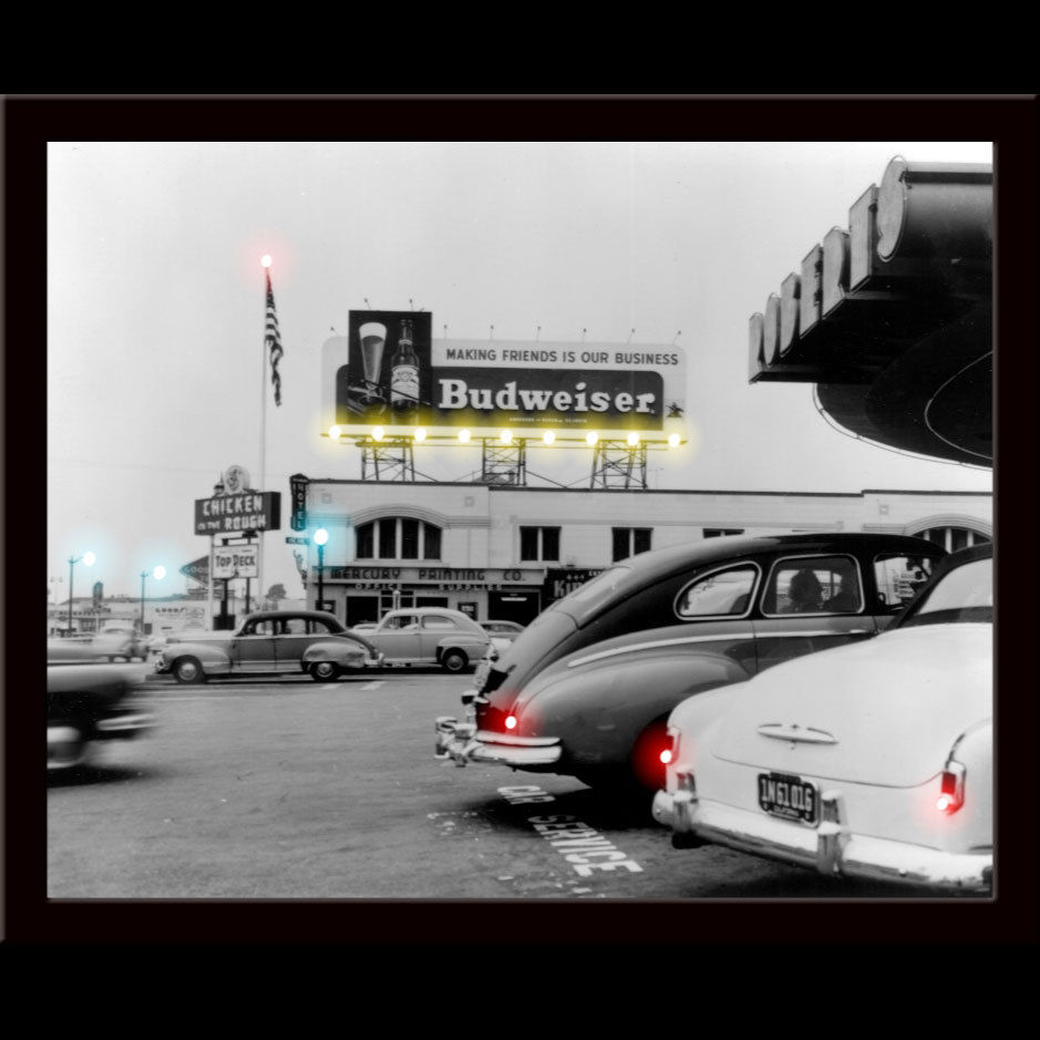 Budweiser Billboard Led Poster