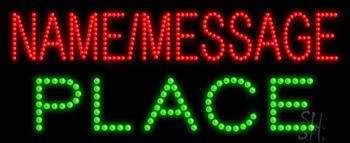 Custom Green Place Led Sign