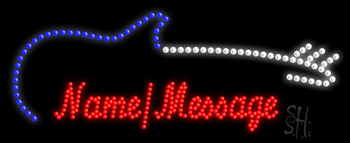 Custom Blue Electric Guitar Led Sign