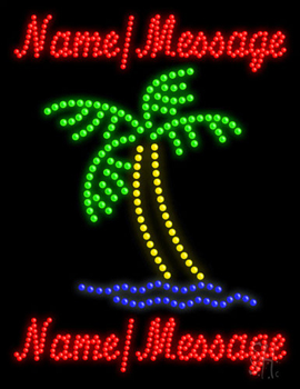 Custom Palm Tree 1 Led Sign