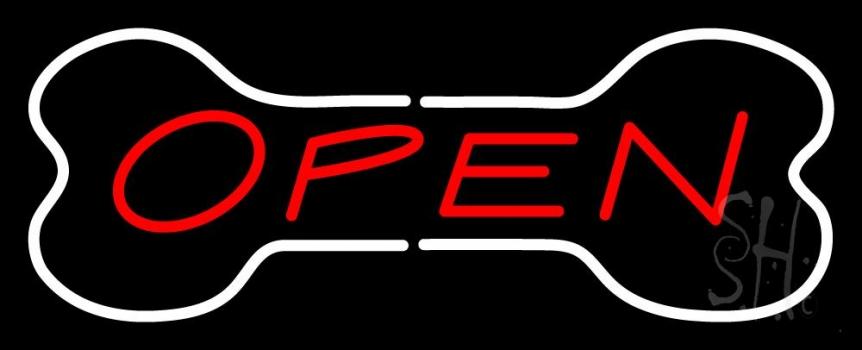 Bone Logo Open Neon Sign