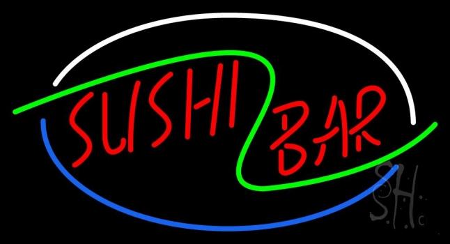 Stylish Sushi Bar Neon Sign