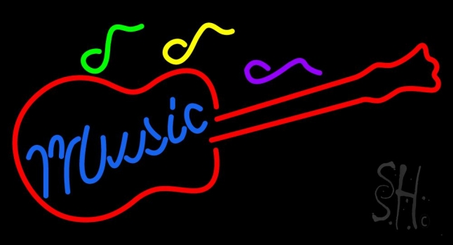 Music Guitar Neon Sign