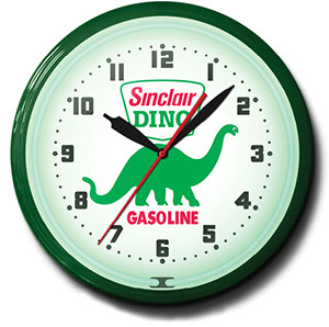 Dino Sinclair 20 Inch Neon Clock