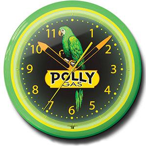 Polly Gas 20 Inch Neon Clock