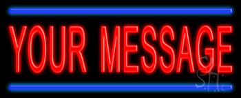 Custom Blue Lines Neon Sign