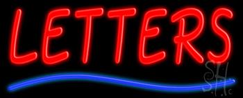 Custom Curved Line Neon Sign