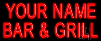 Custom Bar And Grill Neon Sign