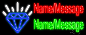 Custom Diamond Neon Sign